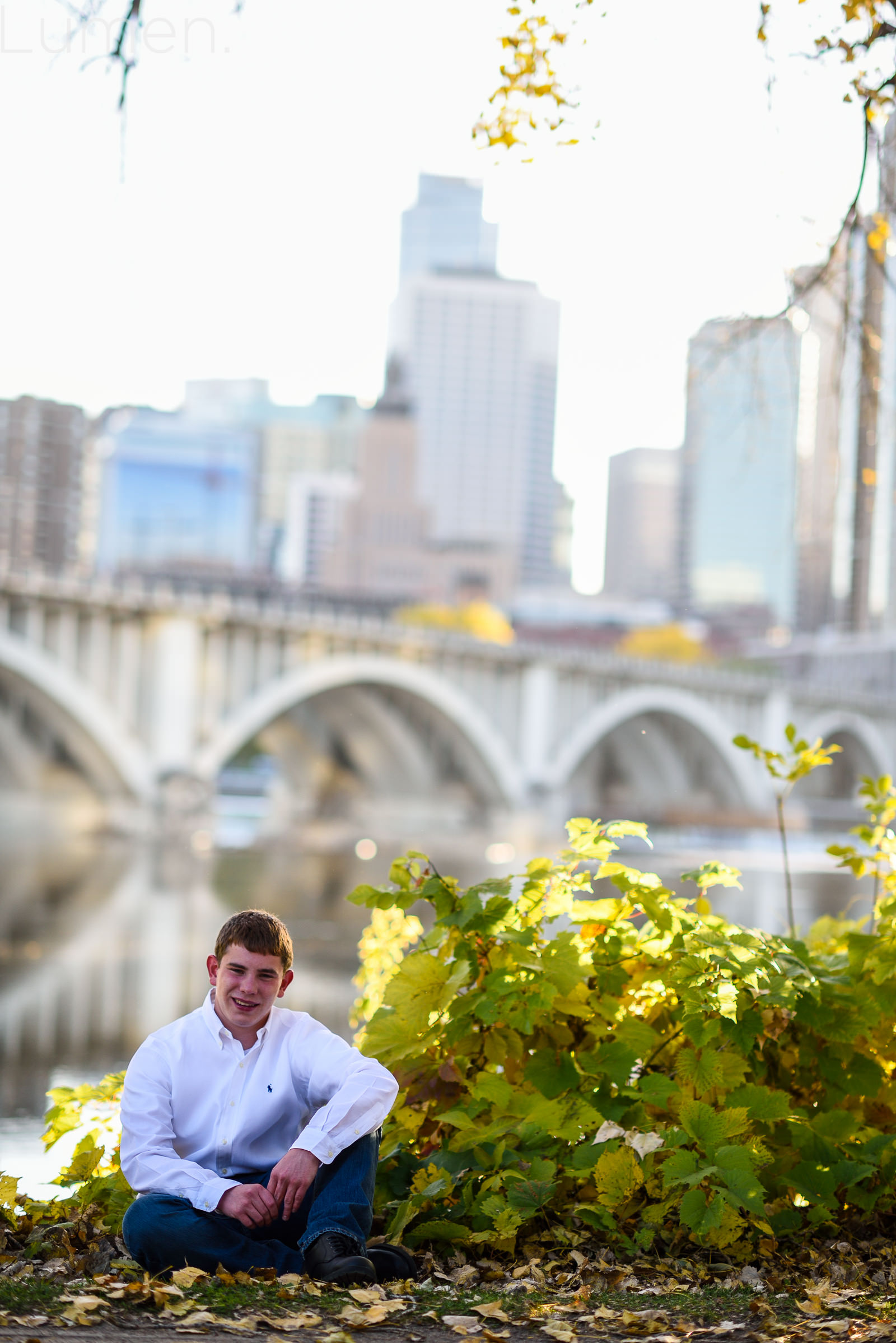 Stone Arch Bridge Senior Photos Joey Lumen Photography