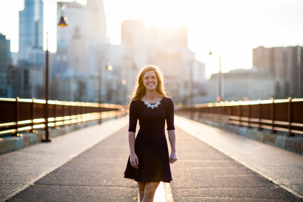 Stone Arch Bridge Senior Photo