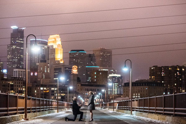 Stone Arch Bridge Proposal Photography