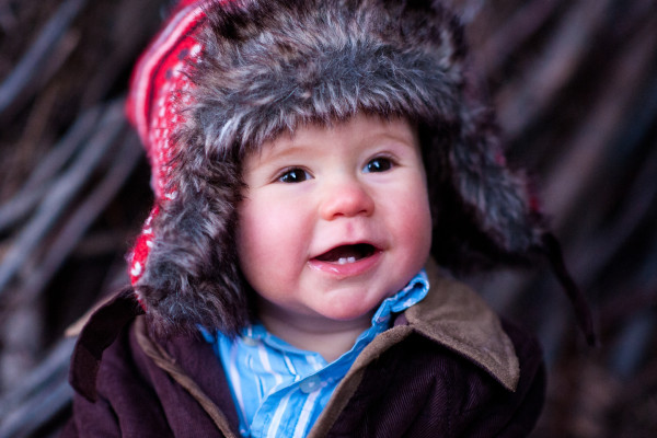 Minnesota Winter Child Portrait