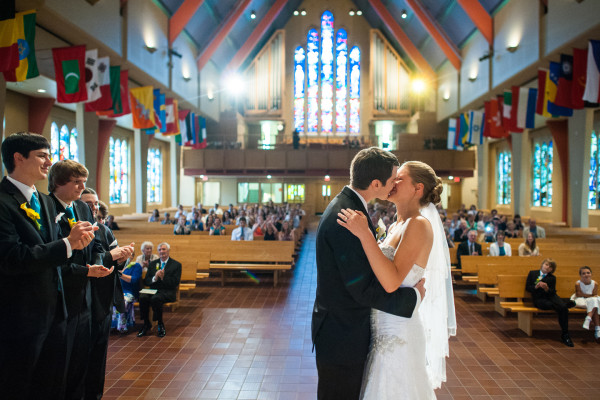 Boe Chapel Wedding Photo