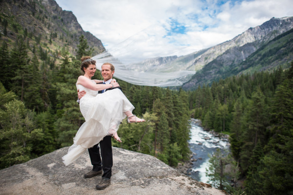Mountains Wedding Photo