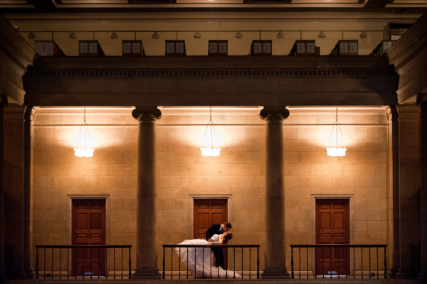 St. Paul Library Wedding Photo