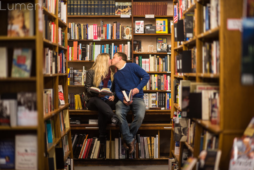 lumen, photography, mager and quinn engagement photos, minneapolis, uptown, minnesota, adventurous, book store, chino latino,