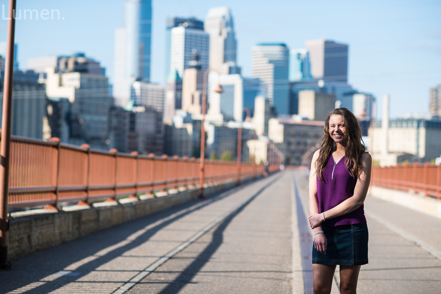 senior photos stone arch bridge, minneapolis, minnesota, adventurous, lumen, photography,